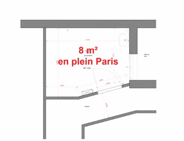 8m2 for Chambre 8m2 paris