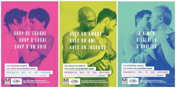 同性愛者へのエイズに注意を呼び掛けるポスター