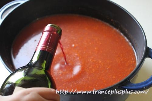 濃厚スープ ワイン
