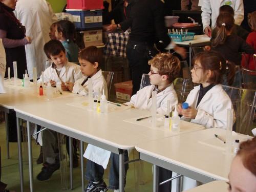 Atelier pour enfants dans la Ville européenne des Sciences (Grand Palais / Paris)