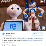 ロボットのドクターXにでてるソンタ君とペッパーがパリの市役所の受付係に
