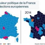 フランスの「政党支持地域別分布地図」見ても「極右」圧勝すぎる。。