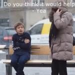 子供がコートも無く、震えていたらどうしますか?
