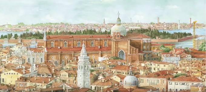 ↓ルイ・ヴィトン「トラベルブック 2014」- 谷口ジローが描くヴェネツィア
