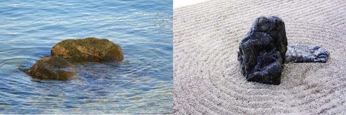 枯山水庭園 水の波紋