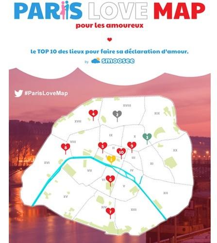 パリ 恋人マップ