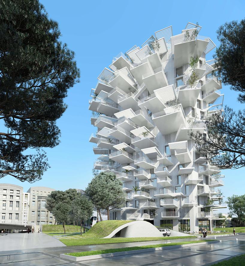 藤本壮介設計のモンペリエの白い木